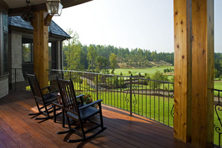 Photo Tour   Donald A  Gardner Architects  Inc  The Clubwell Manor    The curved main level porch offers a stunning view of the Tom Fazio designed golf course