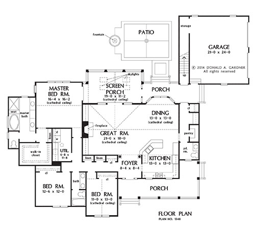 The cornell house plans first floor plan house plans by for House plans design direct
