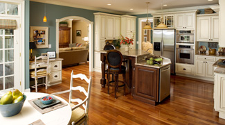 Kitchen Cabinets Design Layout on Homeowner Chose To Modify The Kitchen Cabinetry Layout To Include An