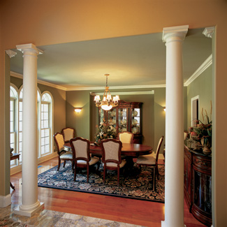 A Trio Of Arched Windows Brighten The Dining Room Niche Accommodates Hutch Or Buffet To Maximize Space Around Table