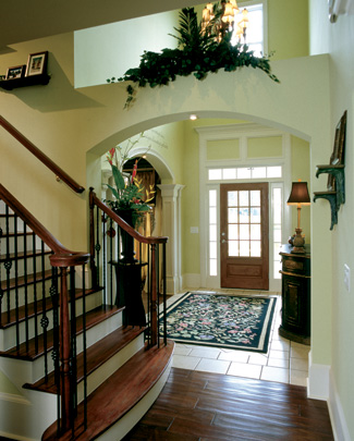 Photo tour frank betz associates inc the woodcliffe - Home design small foyers ...