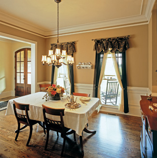 The Formal Dining Room Resides Near Front Entry And Features Traditional Molding Details A Furniture Niche Thats Perfect For Holding Hutch Or