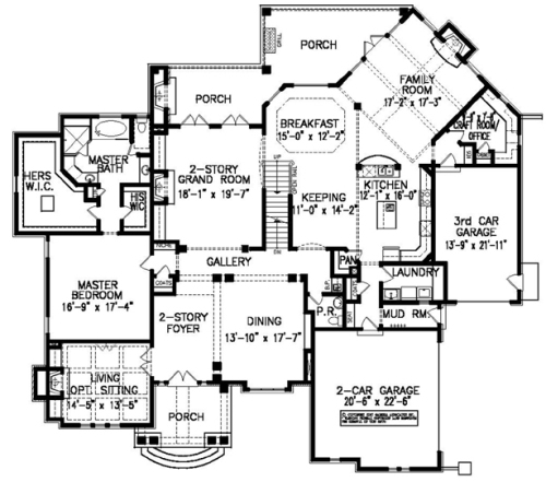 The laurelwood manor house plans first floor plan house for Floor plans com