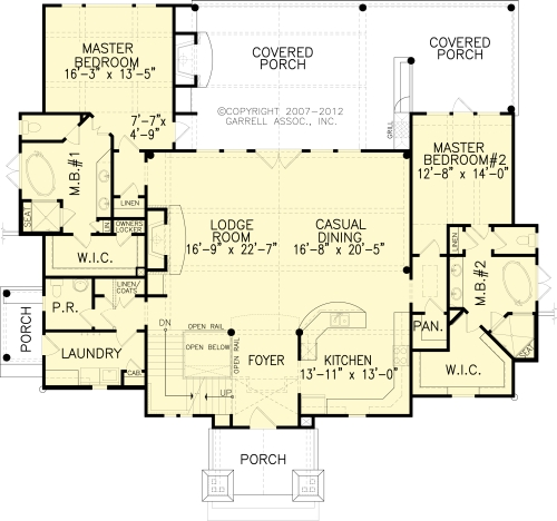 The snow cap cottage b house plans first floor plan for Direct from the designers house plans