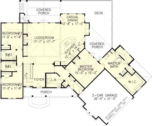 The hot springs cottage iii house plans first floor plan for Hot house plans