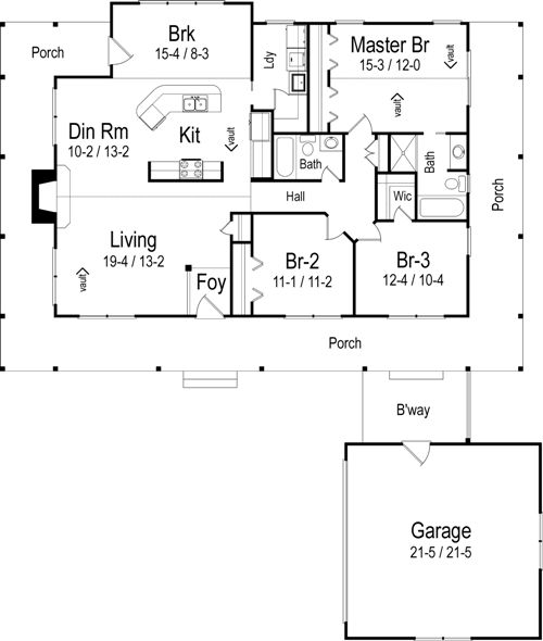The kyle house plans first floor plan house plans by for House plans designs direct