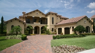 Photo Tour   Home Design Services The Sophia House Plan DDWEBDDHDS    Stucco walls  a tile roof  and decorative accents effectively evoke all the charm of a Tuscan hillside retreat in this two story estate home