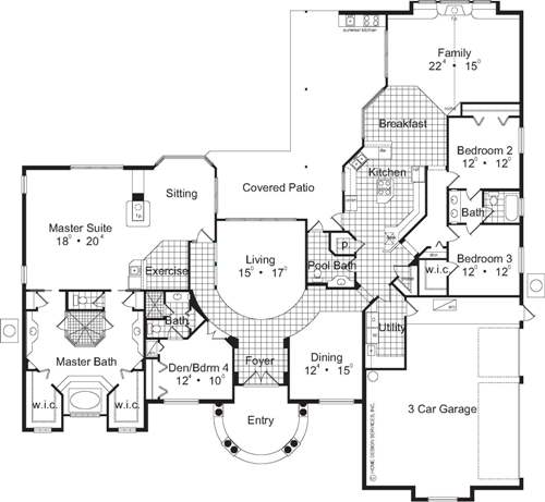 The San Simeon House Plans First Floor Plan House Plans