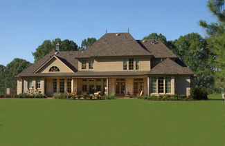 Photo tour larry e belk designs the angouleme house plan for Larry e belk home designs