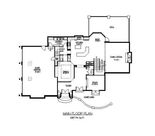 The cottage house plans first floor plan house plans by for House plans direct