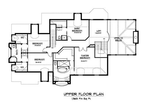 The cottage house plans second floor plan house plans by for House plans design direct