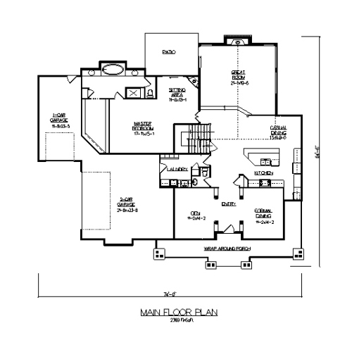 The kerwin house plans first floor plan house plans by for House plans designs direct