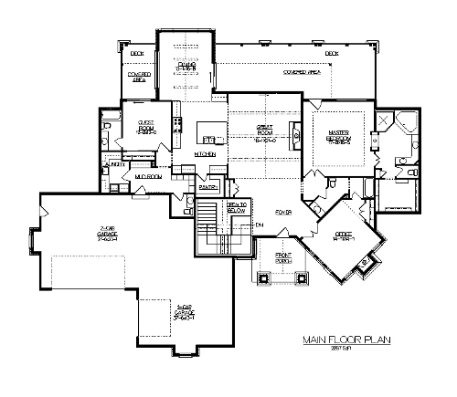 The Streamside House Plans First Floor Plan House Plans