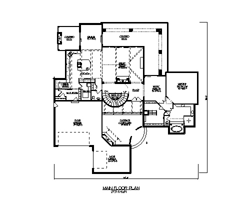 The toscana house plans first floor plan house plans by for Direct from the designers house plans