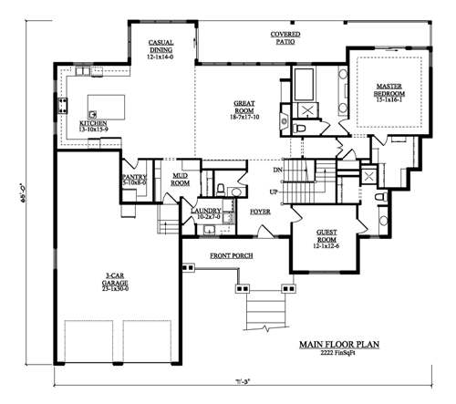 The Idaho House Plans First Floor Plan House Plans By
