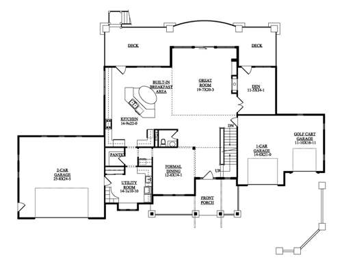 The fairway house plans first floor plan house plans by for House plans designs direct
