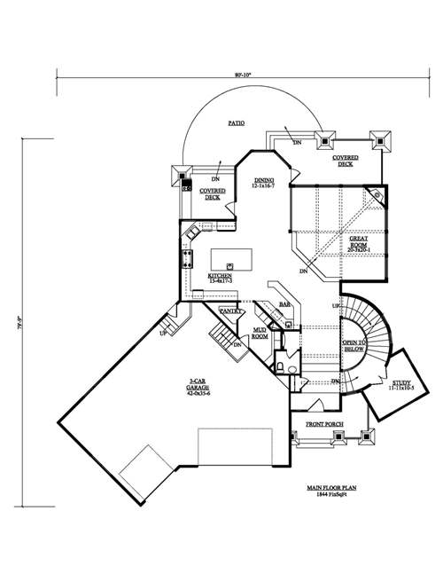 The tahoe house plans first floor plan house plans by for Direct from the designers house plans