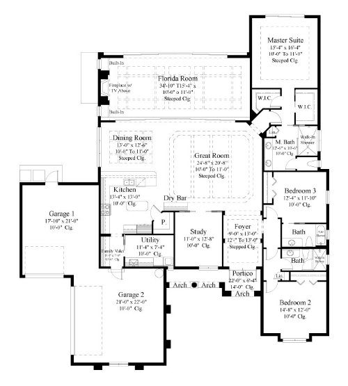 The Mirella House Plans First Floor Plan House Plans By