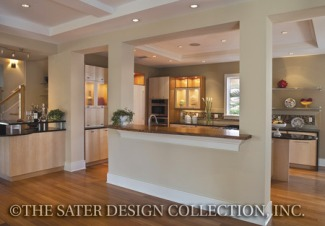 Photo tour sater design collection inc the myrtlewood for Pass through kitchen ideas