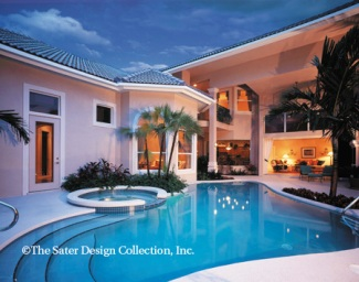 Home designs with courtyard pool home design and style for House plans with pool in center courtyard