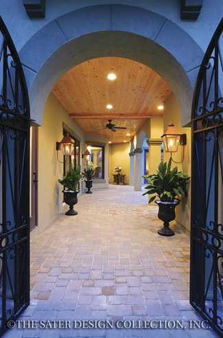 Photo tour sater design collection inc the feretti for Courtyard entry house plans
