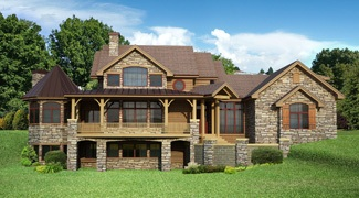 Walkout basement house plans direct from the nation 39 s top Ranch home plans with walkout basement
