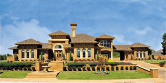 Sater Design Collection  Inc  The La Reina House Plan DDWEBDDDS  Click for Larger Image