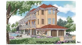Sater Design Collection Inc The Charleston Place House