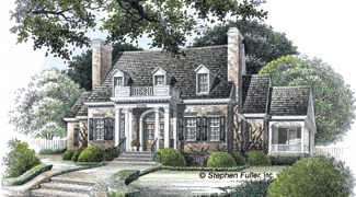 Stephen Fuller  Inc  The Maple Street House Plan DDWEBDDSF  Click for Larger Image